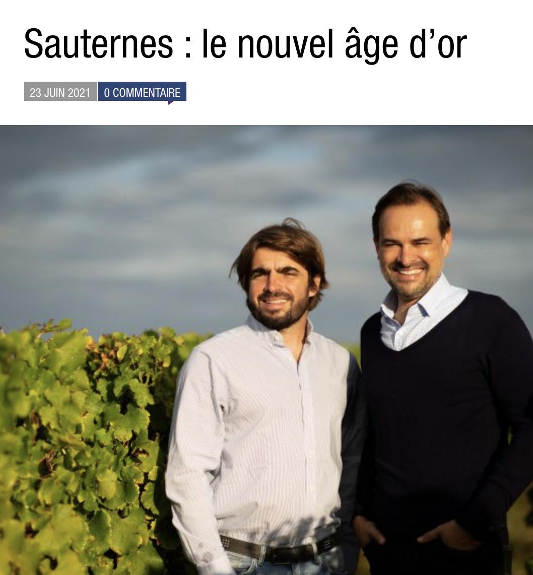 Sauternes : le nouvel âge d'or